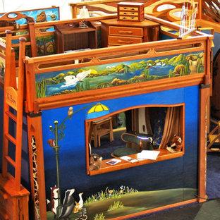 Immagine di una grande cameretta per bambini da 1 a 3 anni american style