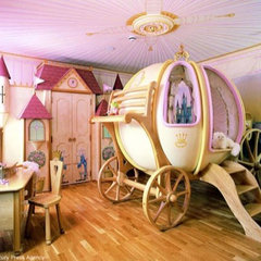 contemporary kids Girl's $48,000 Carriage Bed1