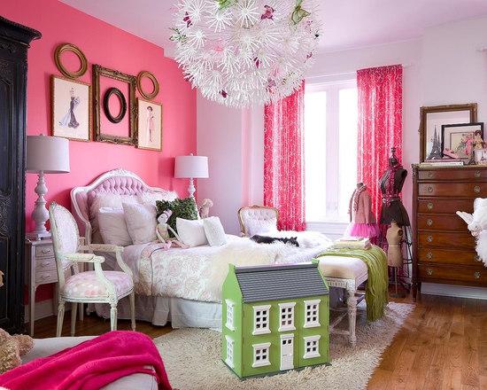 Pink Luxury Bedroom luxury pink girls bedroom | houzz