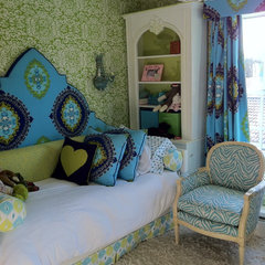 eclectic bedroom by Deborah Houston Interiors