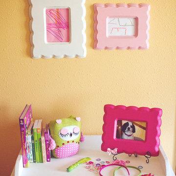 Girl's Pink & Green Bedroom