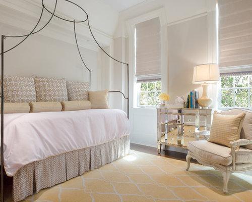 Example Of A Classic Girl Medium Tone Wood Floor Kidsu0027 Bedroom Design In  Chicago With