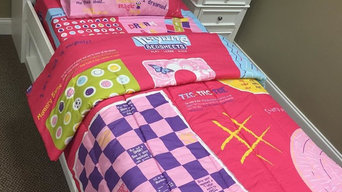 Girls bed with Playtime Bed Sheets