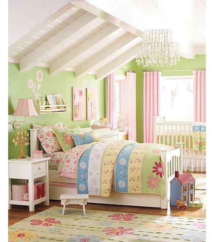 Traditional Kids Girls bedroom
