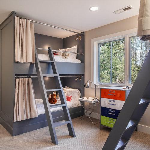mid century kinderzimmer design ideen bilder beispiele. Black Bedroom Furniture Sets. Home Design Ideas