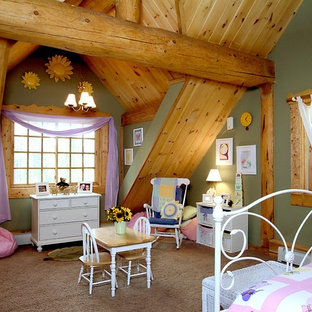 Inspiration for a rustic girl kids' room remodel in Boise