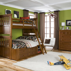 contemporary kids Green Room with Bunk