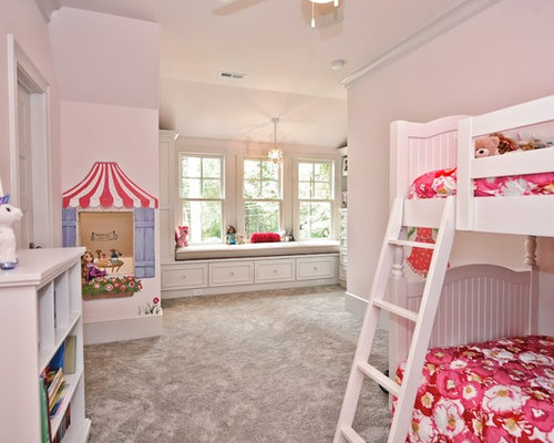 landhausstil kinderzimmer mit rosa wandfarbe design ideen. Black Bedroom Furniture Sets. Home Design Ideas