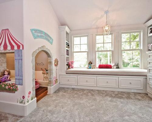 landhausstil kinderzimmer mit rosa wandfarbe design ideen. Black Bedroom Furniture Sets. Home Design Ideas
