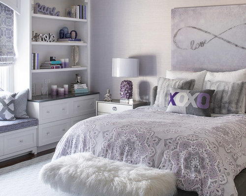 jugendzimmer mit lila wandfarbe ideen design bilder houzz. Black Bedroom Furniture Sets. Home Design Ideas