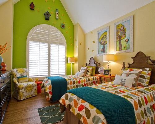 Yellow Walls Bedroom | Houzz