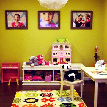 Happy Bold Kids Basement Playroom