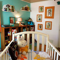 Eclectic Kids happy, colorful room for a young child