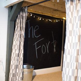 Idées déco pour une chambre d'enfant industrielle.