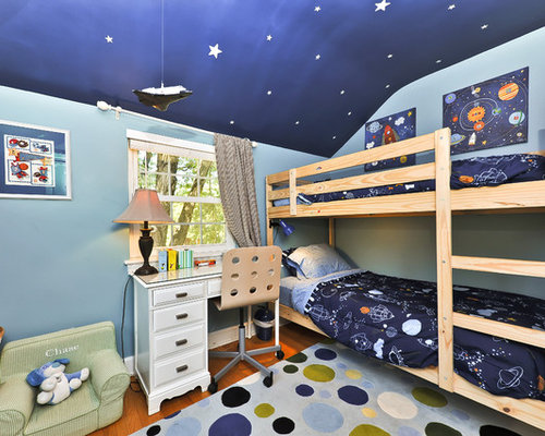Inspiration for a timeless boy kids  room remodel in DC Metro. Outer Space Themed Room   Houzz