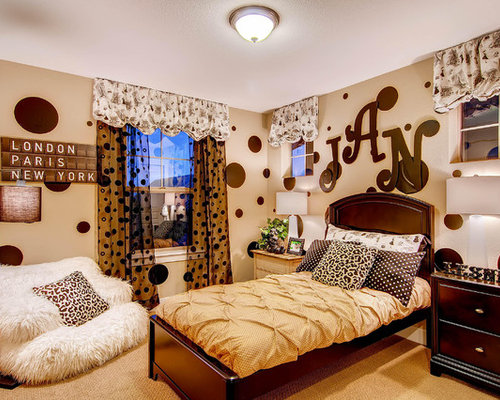 Teen Polka Dot Bedroom | Houzz