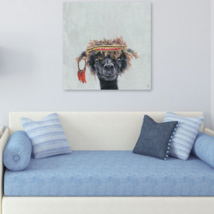 """""""Hippie Llama II"""" Painting Print on Wrapped Canvas"""
