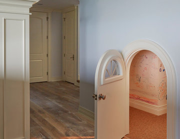 Hobbit House Playroom with Miniature Arched Door