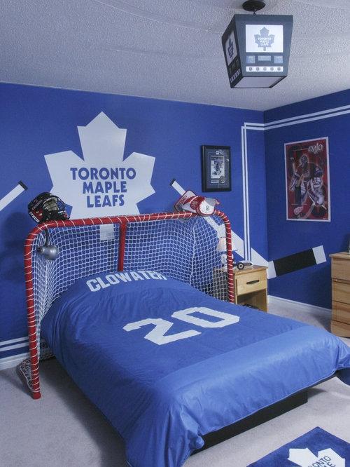 Example of a trendy kids  room design in Other. Hockey Bedroom   Houzz