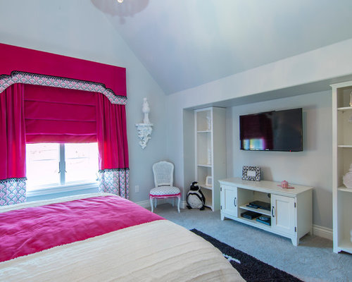 hollywood glam bedroom. Mid sized trendy girl carpeted kids  bedroom photo in Dallas with gray walls Hollywood Glam Bedroom Houzz