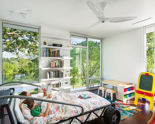 50 best modern kids room ideas houzz inspiration for a modern boy dark wood floor kids bedroom remodel in other with white sisterspd
