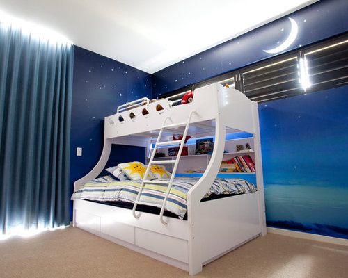 moderne kinderzimmer mit linoleumboden ideen design houzz. Black Bedroom Furniture Sets. Home Design Ideas