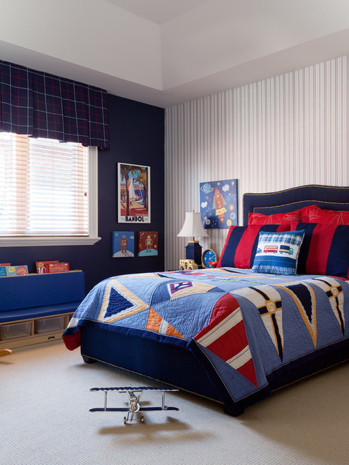 example of a classic kids room design for boys in toronto with beige floors. Interior Design Ideas. Home Design Ideas