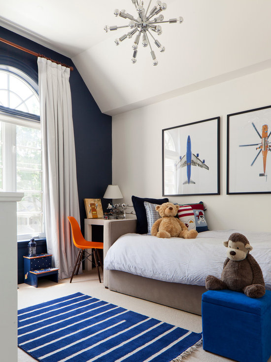 Dark Blue Accent Wall Bedroom navy blue accent wall | houzz