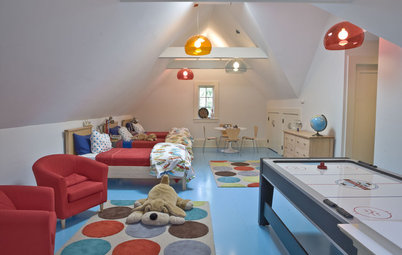 Look Up to the Attic for a Playful Kids' Bedroom