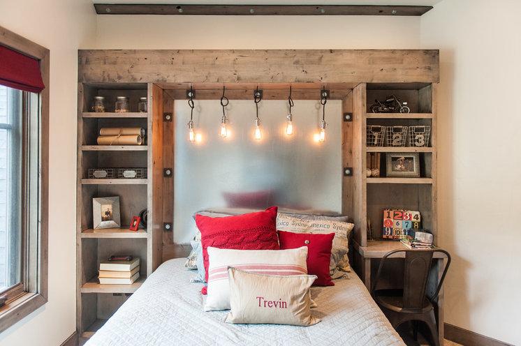 Лофт Спальня Industrial Bedroom