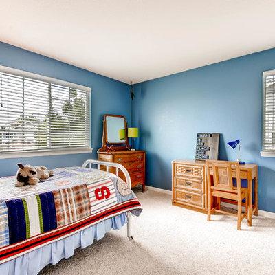 Elegant boy carpeted kids' room photo in Denver