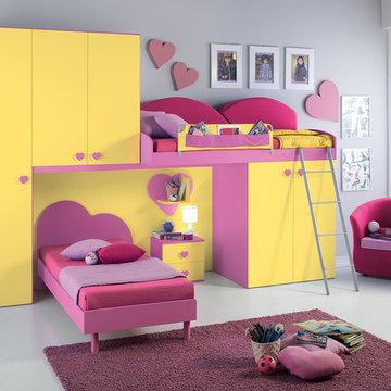 Italian Kids Bunk Bedroom Set VV G067 - Call For Price