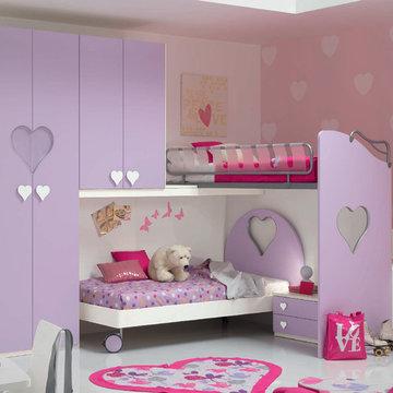 Italian Kids Corner Bunk Bedroom Set WEB 69 by SPAR