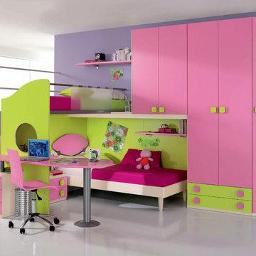 Italian Twin Kids Bunk Bedroom Set WEB 71 by Spar   UmodStyle.com