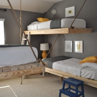 Example of a minimalist kids' room design in Other