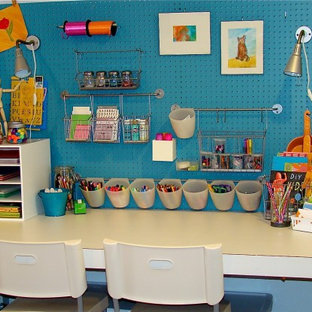Example of an eclectic playroom design in Boise