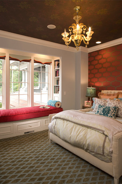 eclectic bedroom by John Kraemer & Sons