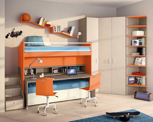Double Bunk Bed Home Design Ideas, Pictures, Remodel and Decor 500 x 400