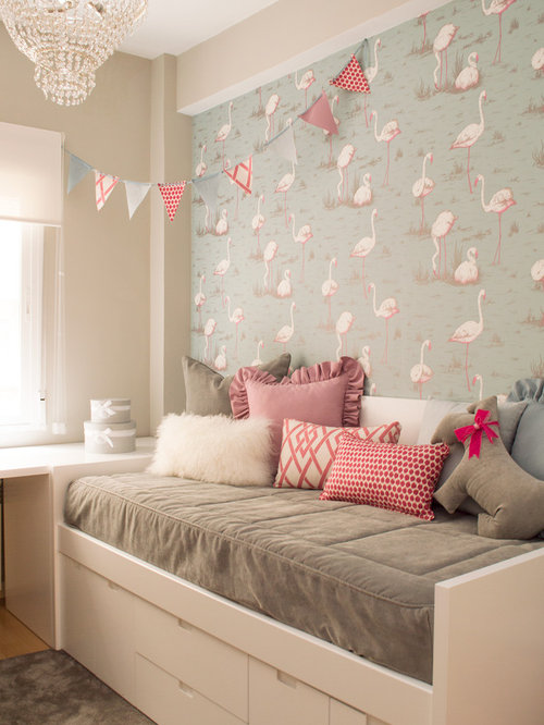 shabby chic style kinderzimmer mit bunten w nden ideen design bilder houzz. Black Bedroom Furniture Sets. Home Design Ideas