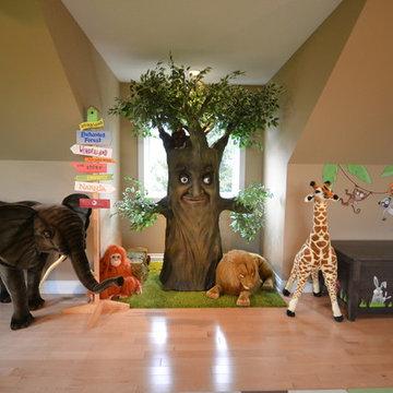 Kids Playroom & Indoor Playhouse