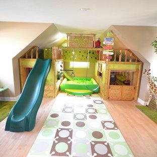 Idée de décoration pour une chambre d'enfant ethnique.