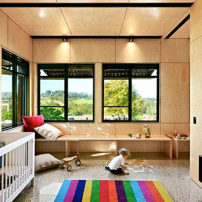 Inspiration for a large contemporary gender-neutral concrete floor kids' room remodel in Melbourne