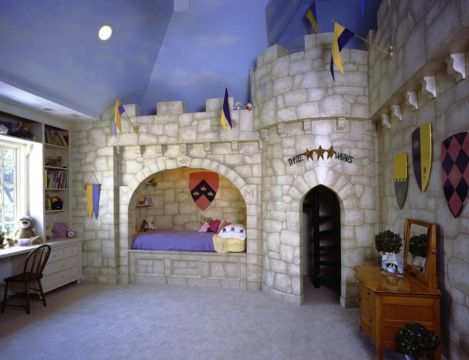 Princess Knight Dragon Castle Bedroom