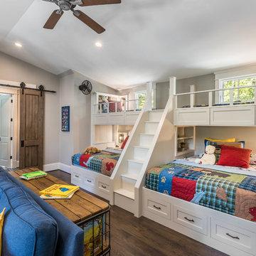 Lake Keowee, SC Custom Home Kids Bunk Room