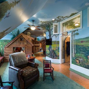 Country kids' playroom in Charlotte.