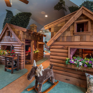 Mountain style playroom photo in Charlotte