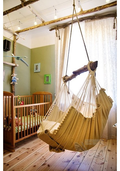 Hanging furniture for swinging rooms for Bedroom hammock chair