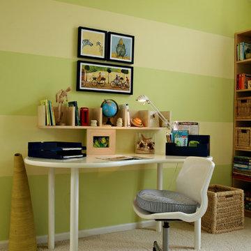 Lime Stripe Room BOY'S BEDROOM