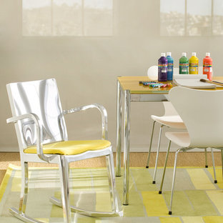 Example of a trendy gender-neutral kids' study room design in San Francisco