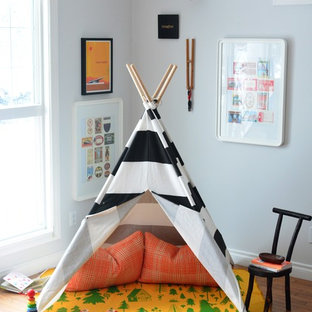 Inspiration for an eclectic gender-neutral kids' room remodel in Calgary